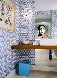El papel pintado en baños y aseos - Decorar con papel pintado