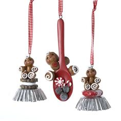 Kurt Adler 55 Gingerbread Boy Spooncup Foil Ornament Set OF 3 * Check this awesome product by going to the link at the image.