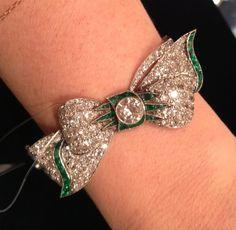 Art Deco Bow Bracelet