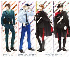 Hetalia (ヘタリア) I was just thinking on how I wanted Italy in that uniform