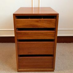 Vintage Teak File Cabinet