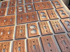 craftsman-style switch plates? seriously? i love this!!!!!!