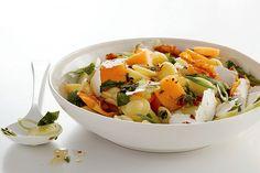 Pasta Salad with Melon, Pancetta, and Ricotta Salata