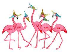 Birthday+Flamingo+Parade+homemade+by+AmelieLegault