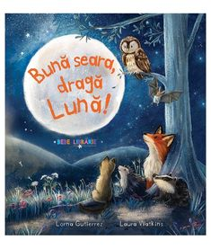 Buna seara, draga Luna! Baby Owls, Cute Creatures, Penguins, Moon, Painting, Art, Albums, Country, Collection