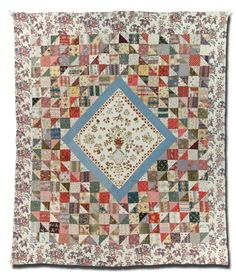 Medallion quilt, made by Mary Staveley, made in East Yorkshire, England, United Kingdom, dated 1833, 99 x 82.5 in, IQSCM 2006.031.0001