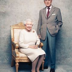 #New To celebrate the 70th Wedding Anniversary of The Queen and The Duke of Edinburgh, new photographs are being released worldwide ❤️  .  On the occasion of their platinum wedding anniversary they were pictured in front of a platinum-textured back drop  .   Matt Holyoak  #britishroyalfamily #britishroyals #brf #queenelizabeth #princephillip #royalcouple #weddinganniversary #royalwedding #love #royalportrait #officialpic #instaroyals #royalnews