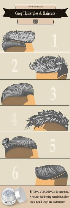 Grey Men Hairstyles & Haircuts – hairdressing pomade – styling and coloring at the same time www.99wtf.net/…