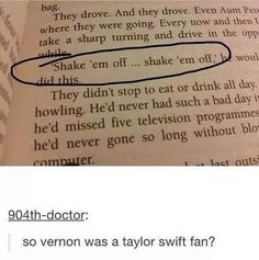 Um... nope! Taylor Swift is a vermon fan.