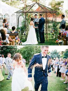 wedding ceremony ideas - the wheat toss!