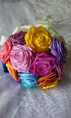 rolled ribbon flower