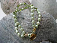 Swarovski Crystal Handmade Beaded Bracelet  by LittleCottageAttic