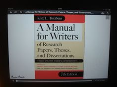 For writers of research papers, theses and dissertations