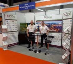 SCCG directors - Gideon Hillman and Craig Ryder ready to meet and greet prospects on the first day of IMHX 2019, at stand 20D12.