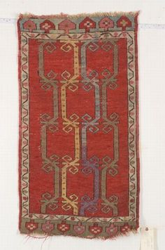 Central Anatolian Yastik, second half 19th century, 3 ft. 6 in. x 1 ft. 11 in. | Skinner Auctioneers Sale 2347