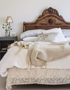 Jenna Sue Designs/ Vintage Whites  Swoon worthy headboard