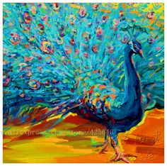 Handpainted peacock oil painting canvas hight Quality Hand painted Painting peacock oil paintings canvas peacock oil painting 6-in Painting & Calligraphy from Home & Garden on Aliexpress.com   Alibaba Group