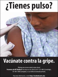 flu poster - flu shot - spanish
