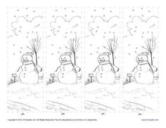 free printable bookmark for kids color the winter season