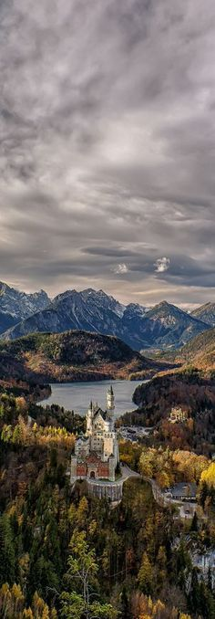 At the Neuschwanstein Castle at the end of the Romantic Road in Fussen, Germany.