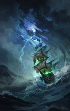 flying-dutchman by ValeryNeith. on You are in the right place about fishing Boats Here we offer you the most beautiful pictures about the Boats building you are looking for. Fantasy Landscape, Fantasy Art, Tattoo Barco, Pirate Art, Pirate Ships, Pirate Crafts, Bateau Pirate, Old Sailing Ships, Sailboat Art