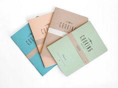 COOKING secrets  lot 4 - letterpress printed notebook - vintage design - COOK5007R