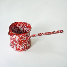 Vintage Red and White Graniteware Enamelware by RattyAndCatty, $14.00