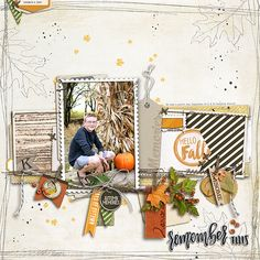 Hello Fall - fall digital scrapbooking at #designerdigitals