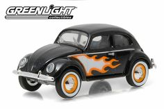 Greenlight Club V-Dub 3 1949 VW Type 1 Split Window Beetle Black w/ Flames From Sportsamerica Sports Cards. Craft Storage, Storage Organization, Vw Beetles, Volkswagen, Type 1, Hot Wheels, Diecast, Windows, Club