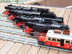 10 Year Plan, Lego Boards, Lego Vehicles, Lego Trains, Lego Stuff, Cool Lego, Steam Engine, Lego Creations, Lego City