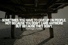 Its sad but sometimes its true