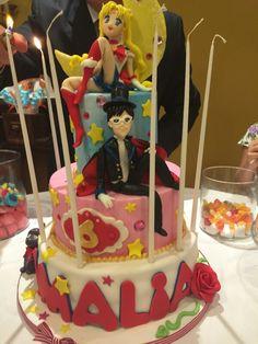 Sailor Moon' s cake Sailor Moon Cakes, Sailor Moon Party, Sailor Moon S, Anime Cake, Cupcake Cakes, Cupcakes, Baby Party, Amazing Cakes, Birthday Cake