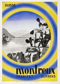 Suisse - Montreux - Territet - Clarens-Plakat