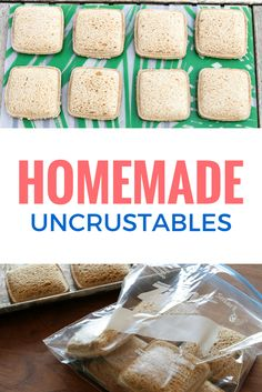 DIY Uncrustables Sandwiches  not that it takes long to make a pb & J but this could be a fund switchfree