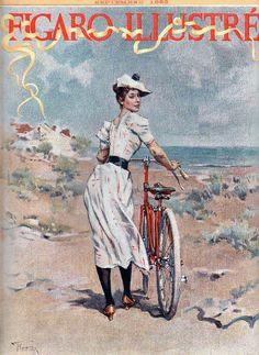 """Cover of the September, 1893 edition of the French magazine, """"Figaro Illustré"""" - Illustration by Frederick Hendrik Kaemmerer (Dutch, 1839-1902)"""