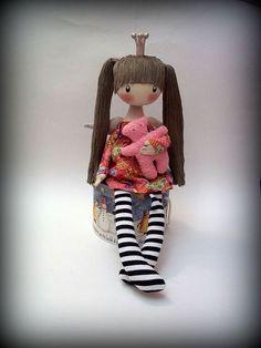 Человечки ручной работы. Ярмарка Мастеров - ручная работа Текстильная кукла ПрЫнцесска...... Handmade.