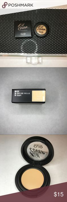[Clio] Kill Cover Pro Artist Pot Concealer 03 Made in Korea  03 in the color Linen   Only one coat is enough to cover like a professional artist  Customized cover   One coat cover  Long lasting Club Clio Makeup Concealer