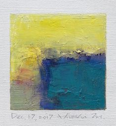 Dec. 17 2017 Original Abstract Oil Painting 9x9 painting #OilPaintingColorful