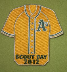 Girl Scouts 100th Anniversary year patch. A's Scout Day 2012. Thank you, Emily and Diana.