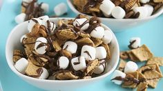 Blogger Deborah Harroun of Taste and Tell makes an easy snack mix with all of the flavors of s'mores.