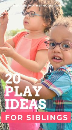Build a strong sibling bond with these easy kid's activities. Over 20 play ideas for siblings! #siblings #playideas #kidsactivities #parenting Fun Activities For Toddlers, Sensory Activities, Family Activities, Toddler Language Development, Sibling Fighting, Sibling Relationships, Practical Parenting, Play Ideas, Craft Ideas