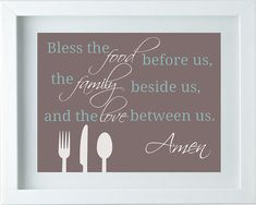 Etsy listing at https://www.etsy.com/listing/165684809/kitchen-decor-kitchen-art-bless-the-food