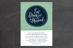 Festive Ellipse Rehearsal Dinner Invitations by Cheer Up Press at minted.com