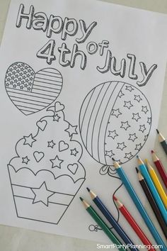 Free printable 4th of July coloring pages for kids. Let the kids creativity shine with these coloring pages. A great 4th of July activity perfect for preschoolers and older kids. These coloring pages are free for the kids to have a lot of fun with for Independence day.