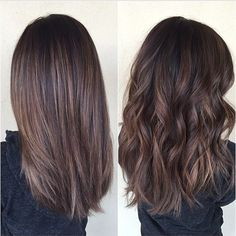 Balayage brunette - gorgeous both straight and curly