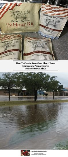 An important part of survival prepping is being ready for any situation - long or short-term. Start prepping today by creating your own short-term emergency disaster survival kit! #survivalprepping #disastersurvival #emergencypreparedness #emergencyreadinessplan #disasterpreparedness #disasterpreparednesskit #disasteremergencykit #disasterkit