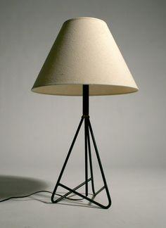 50'S MID CENTURY MODERN IRON TABLE LAMP FREDERICK WEINBERG