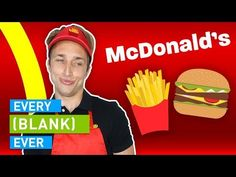 McDonald's - whether it's their weird mascots, not understanding the drive-thru worker, or more, this is EVERY MCDONALDS EVER! Noah Grossman Courtney Miller Olivia Sui Shayne Topp CREW Directed by Ryan Todd Written by. Free Mcdonalds, Mcdonalds Gift Card, Smosh, Mcdonald Menu, Ronald Mcdonald, Shrimp Burger, English Caption, Fast Food Items, Free Gift Cards