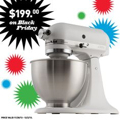 Looking for a KitchenAid mixer?  Shop Lowe's on Black Friday!