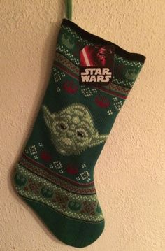 nwt star wars yoda sweater knit christmas holiday stocking 20 disney - Christmas Is The Time To Say I Love You